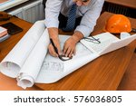 engineer working in the office... | Shutterstock . vector #576036805