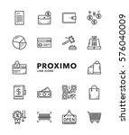 shopping modern futuristic line ... | Shutterstock .eps vector #576040009
