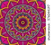 mandala. ethnic round ornament. ... | Shutterstock .eps vector #576044197