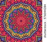 mandala. ethnic round ornament. ... | Shutterstock .eps vector #576044284