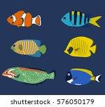 set of tropic fish | Shutterstock .eps vector #576050179
