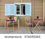 terrace | Shutterstock . vector #576050365