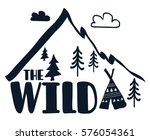 the wild and mountain... | Shutterstock .eps vector #576054361