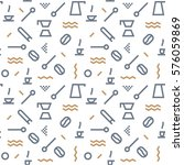 geometric vector coffee pattern ... | Shutterstock .eps vector #576059869