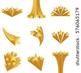 golden stars set. isolated on... | Shutterstock .eps vector #576065179