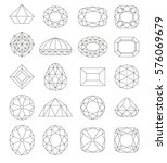 diamond symbols. line gems...   Shutterstock .eps vector #576069679