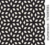 cubic grid tiling endless... | Shutterstock .eps vector #576085081