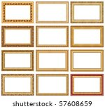 collection of golden picture... | Shutterstock . vector #57608659