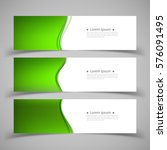 set of banner templates. ... | Shutterstock .eps vector #576091495