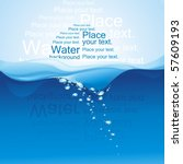 Water Background.  Vector...