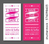 save the date wedding... | Shutterstock .eps vector #576098605