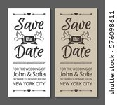 save the date wedding... | Shutterstock .eps vector #576098611