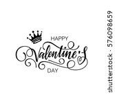 happy valentine's day vector... | Shutterstock .eps vector #576098659