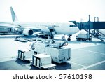 airplane is waiting for... | Shutterstock . vector #57610198