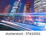 the light trails on the modern... | Shutterstock . vector #57610201