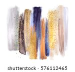 abstract watercolor brush... | Shutterstock . vector #576112465