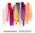 abstract watercolor brush... | Shutterstock . vector #576112471