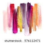 abstract watercolor brush... | Shutterstock . vector #576112471