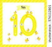 cute children flashcard number... | Shutterstock .eps vector #576112801