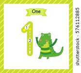cute children flashcard number... | Shutterstock .eps vector #576112885