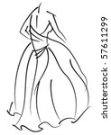 decorative fashion model long... | Shutterstock .eps vector #57611299