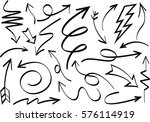 set of arrows vector... | Shutterstock .eps vector #576114919