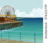 Amusement Park On The Pier In...