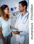physiotherapist explaining... | Shutterstock . vector #576130864