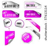set of pink and white discount... | Shutterstock .eps vector #57613114