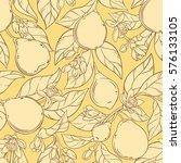 bergamot vector seamless pattern | Shutterstock .eps vector #576133105