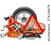 vector car accessories concept | Shutterstock .eps vector #576134674