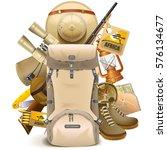 vector safari haversack | Shutterstock .eps vector #576134677