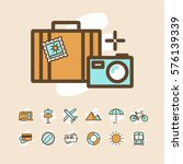 travel and vacation icons set | Shutterstock .eps vector #576139339