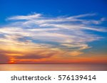 beautiful sunset over the sea... | Shutterstock . vector #576139414