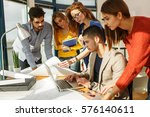 group of business people... | Shutterstock . vector #576140611