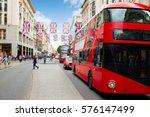 london bus oxford street w1... | Shutterstock . vector #576147499