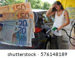 the cost of fuel increases  ... | Shutterstock . vector #576148189