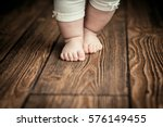 Baby Feet Doing The First Step...