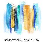 abstract watercolor brush... | Shutterstock . vector #576150157