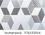 texture of the classic tile ... | Shutterstock . vector #576152014