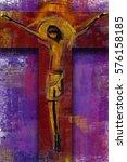 jesus christ on the cross  ... | Shutterstock . vector #576158185