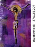jesus christ on the cross  ... | Shutterstock . vector #576158209