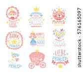 little princess set of prints... | Shutterstock .eps vector #576165097