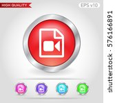 video file icon. button with...