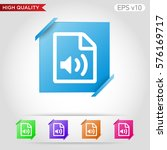 audio file icon. button with...
