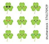 cute flat design clover ... | Shutterstock .eps vector #576170929