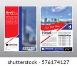 brochure  flyer  leaflet ... | Shutterstock .eps vector #576174127