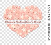 happy valentine's day. abstract ... | Shutterstock .eps vector #576174775