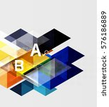 transparent triangle tiles... | Shutterstock .eps vector #576186889