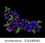 floral pattern with fantasy... | Shutterstock .eps vector #576188581